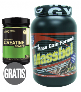 Ganador de peso MASSBOL 2.5kg + creatina MICRONISED CREATINE de regalo!
