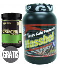 Ganador de peso MASSBOL + creatina MICRONISED CREATINE de regalo!