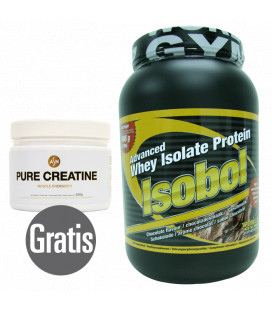 Proteína ISOBOL 908GR + CREATINE MICRONISED 250GR