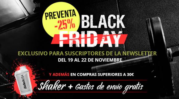 Black Friday, descuentos en nutrición y suplementos deportivos